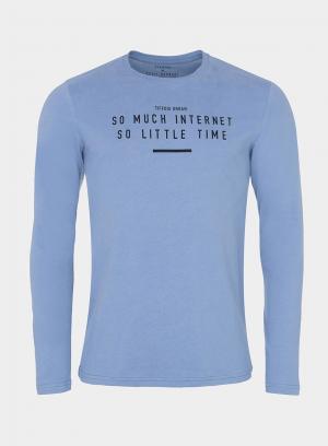 T-Shirt azul claro com impressão para homem da Tiffosi