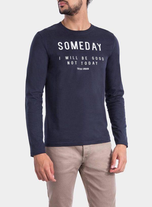 Frente de t-Shirt azul marino com impressão para homem da Tiffosi