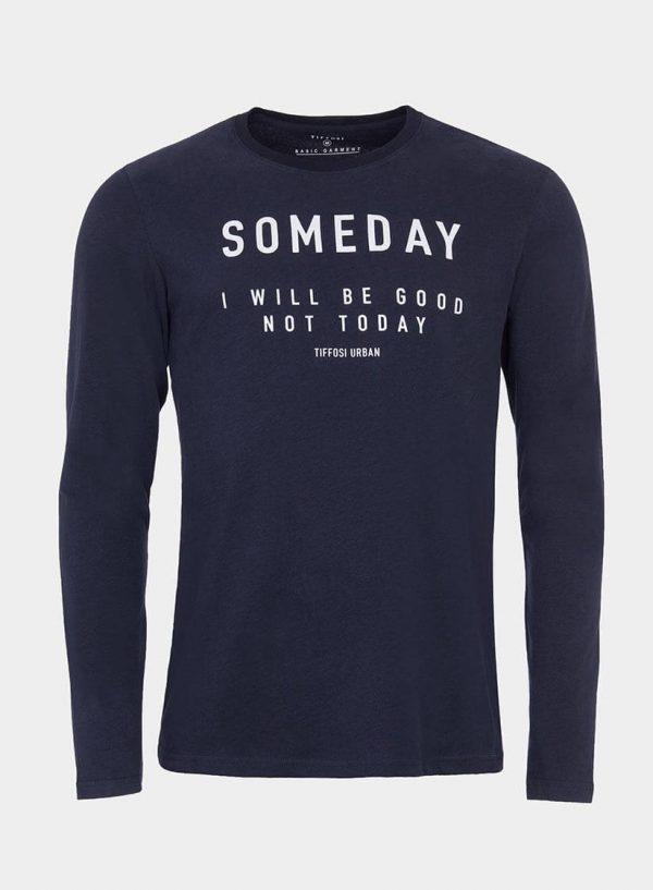 T-Shirt azul marino com impressão para homem da Tiffosi