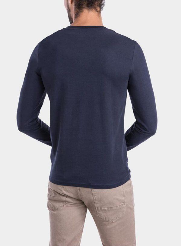Costas de t-Shirt azul marino com impressão para homem da Tiffosi