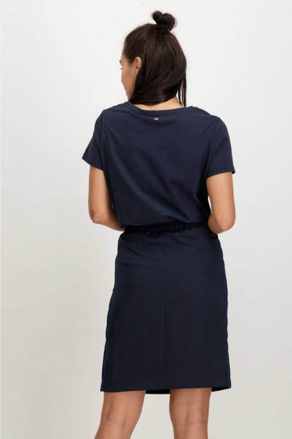 Costas de T-shirt bordada com lantejoulas em azul marino para mulher da Garcia Jeans