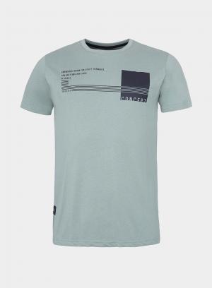 T-Shirt verde estampada texto para homem da Tiffosi
