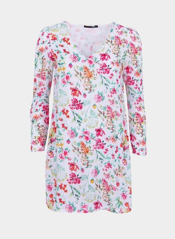 Vestido estampado floral decote em V da Tiffosi