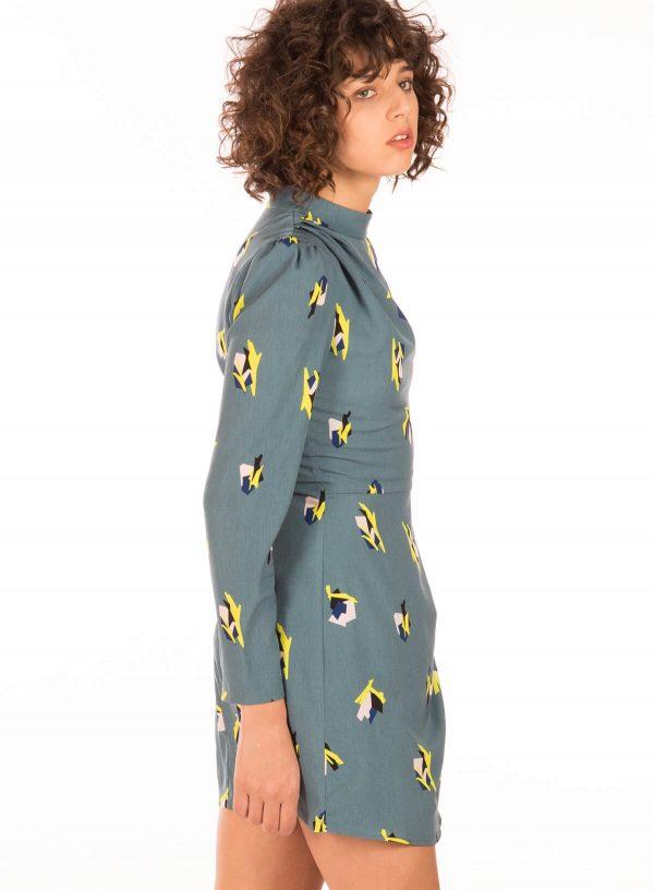 Vestido com print abstrato da Minueto