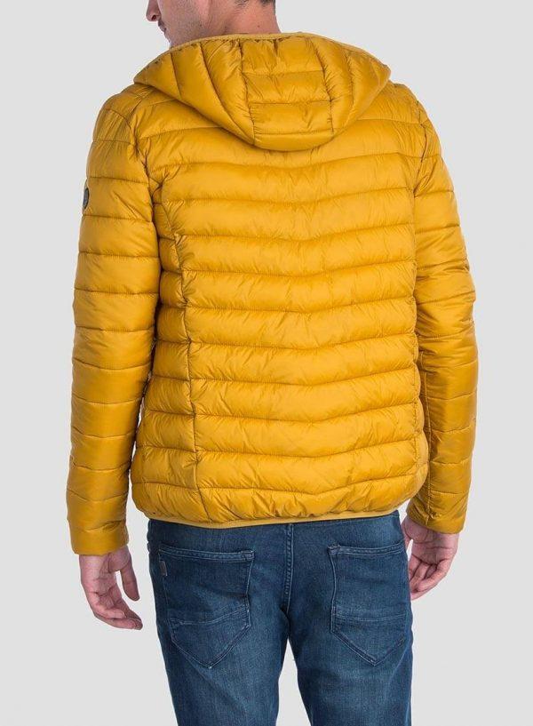 Casaco acolchoado amarelo ultra light capuz para homem da Tiffosi