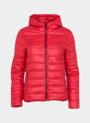 Casaco acolchoado vermelho com bolsa para mulher da Tiffosi
