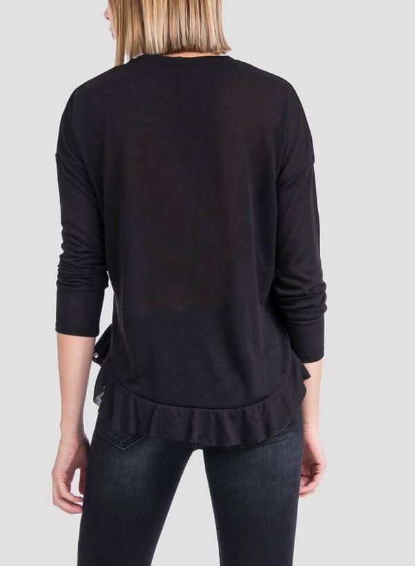 T-shirt combinado com folho da mulher da Tiffosi