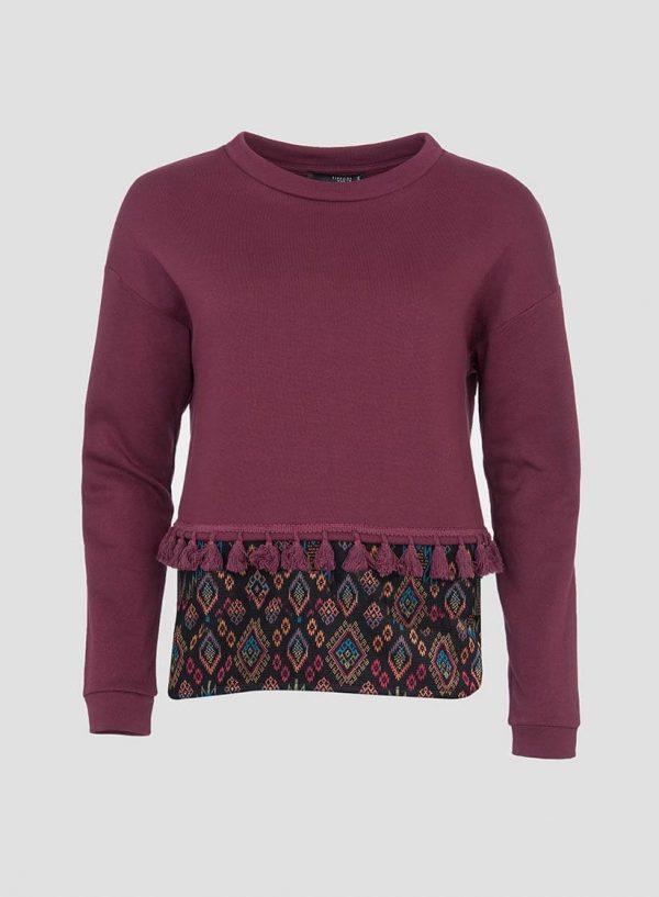 Sweatshirt combinada borlas para mulher da Tiffosi