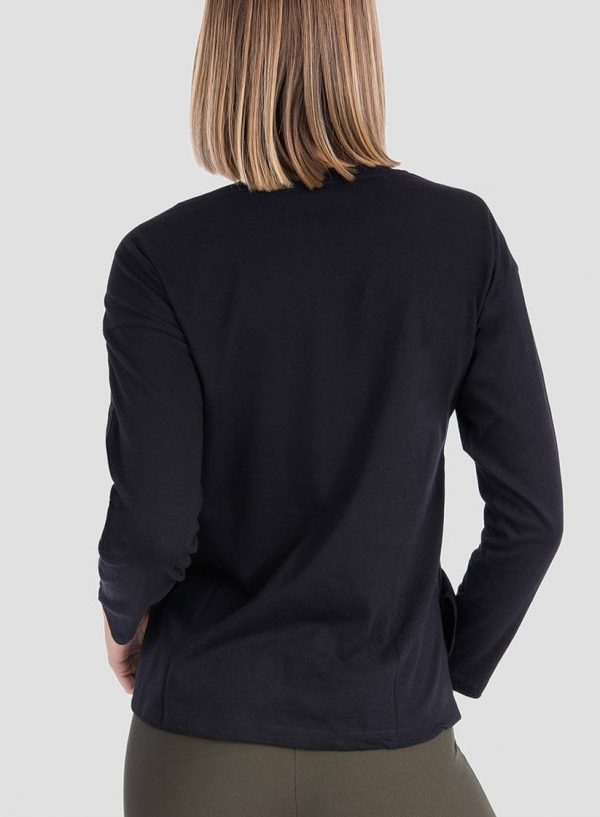 T-shirt preta texto estampado para mulher da Tiffosi