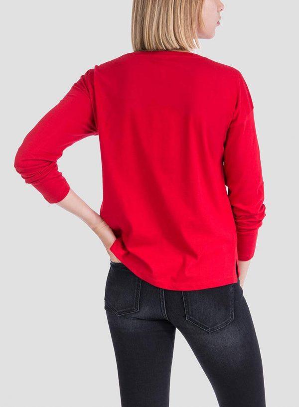 T-shirt vermelha texto estampado para mulher da Tiffosi