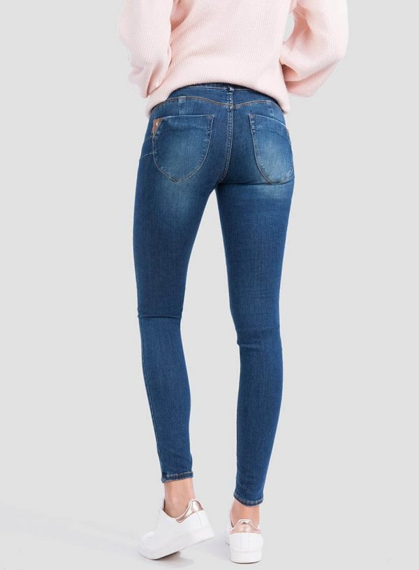 Jeans one size double-up skinny aplicações para mulher da Tiffosi