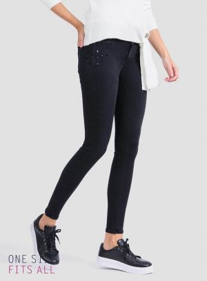 Jeans one size double-up skinny para mulher da Tiffosi