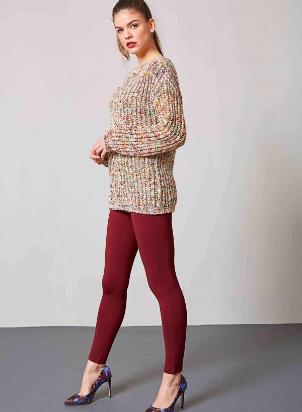 Camisola multicor decote redondo para mulher da Md`m