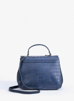 Parte de trás da city Bag Gravada em azul marino para mulher da Vilanova