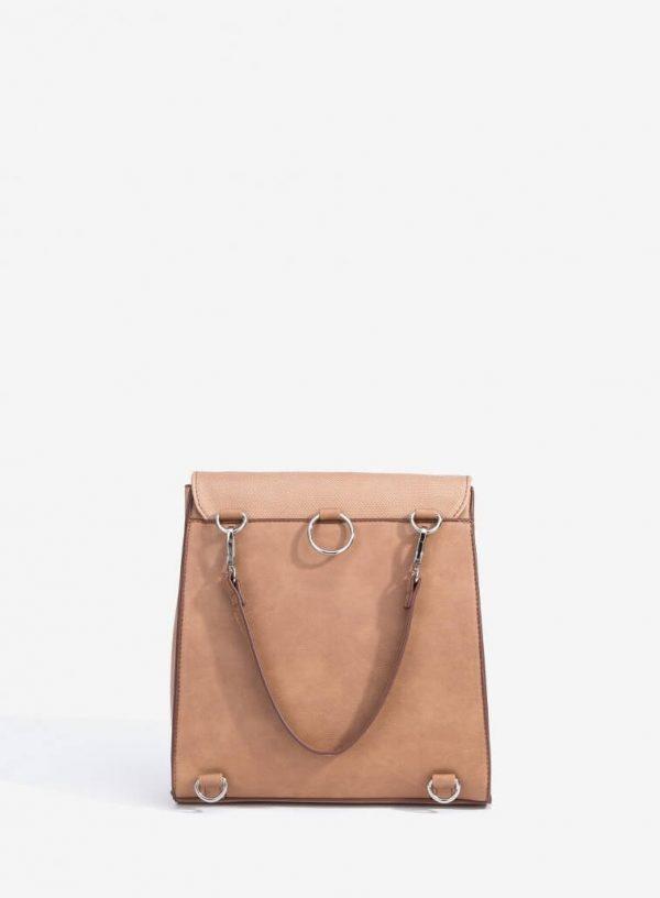 Parte de trás da mochila com relevo em bege para mulher da Vilanova