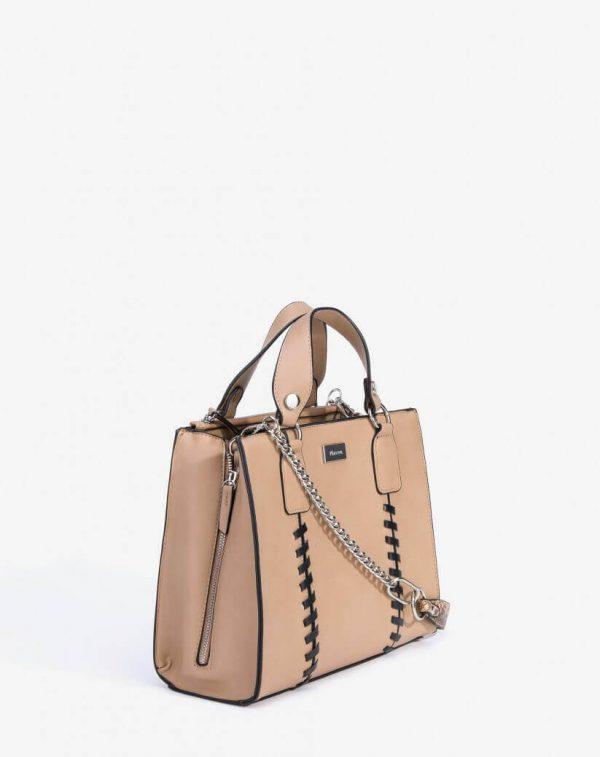 Lateral da city bag com alça para mulher da Vilanova