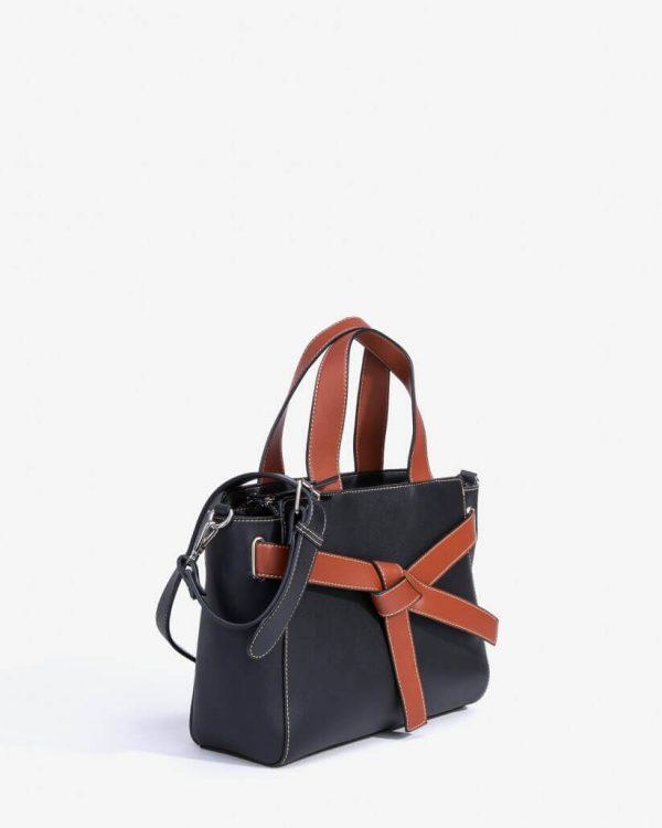 Lateral da City bag bicolor para mulher da Vilanova