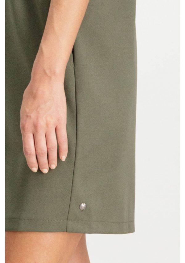 Vestido de malha verde com bolsos da Garcia Jeans
