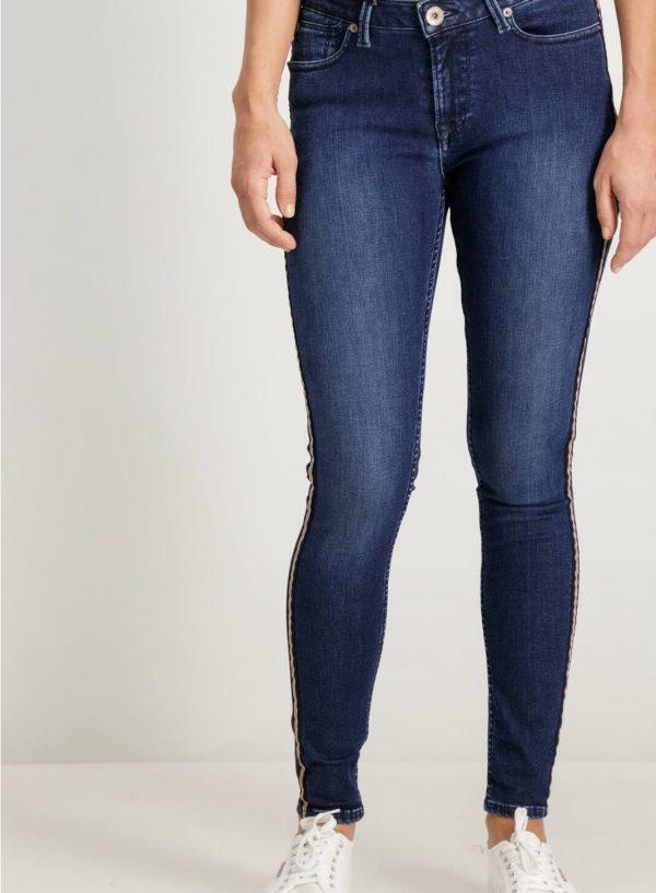 Calça de ganga com lista lateral para mulher da Garcia Jeans