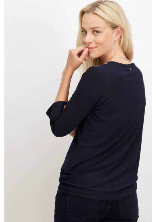Camisola com cabeção estampado para mulher da Garcia Jeans