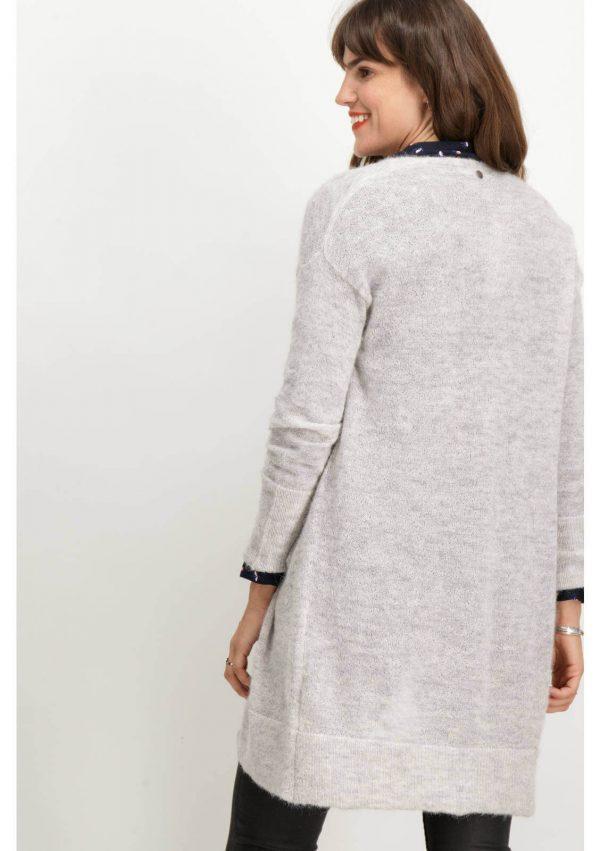 Casaco branco malha alpaca para mulher da Garcia Jeans