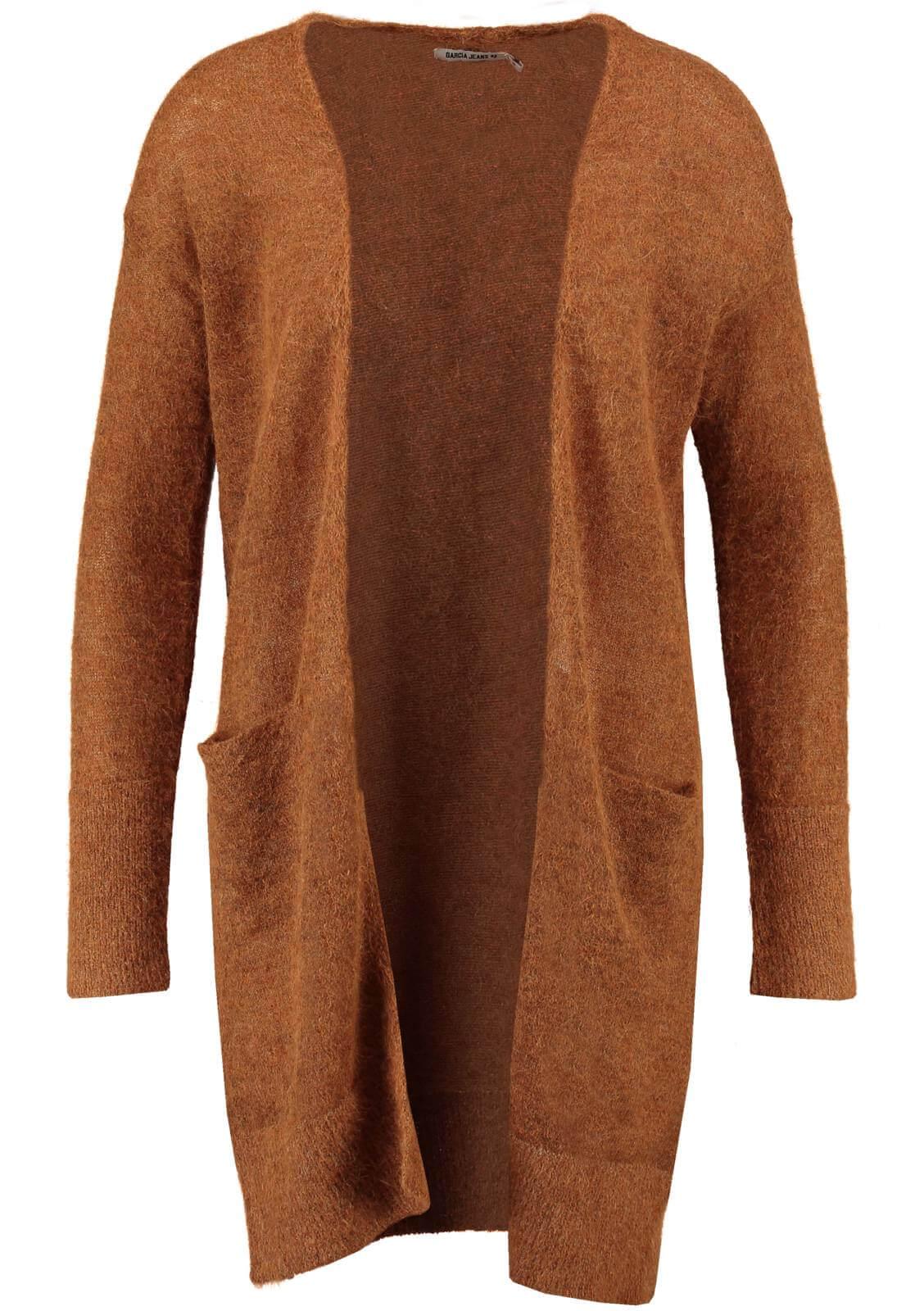 Casaco camel malha alpaca Garcia Jeans   Jutina   Compre