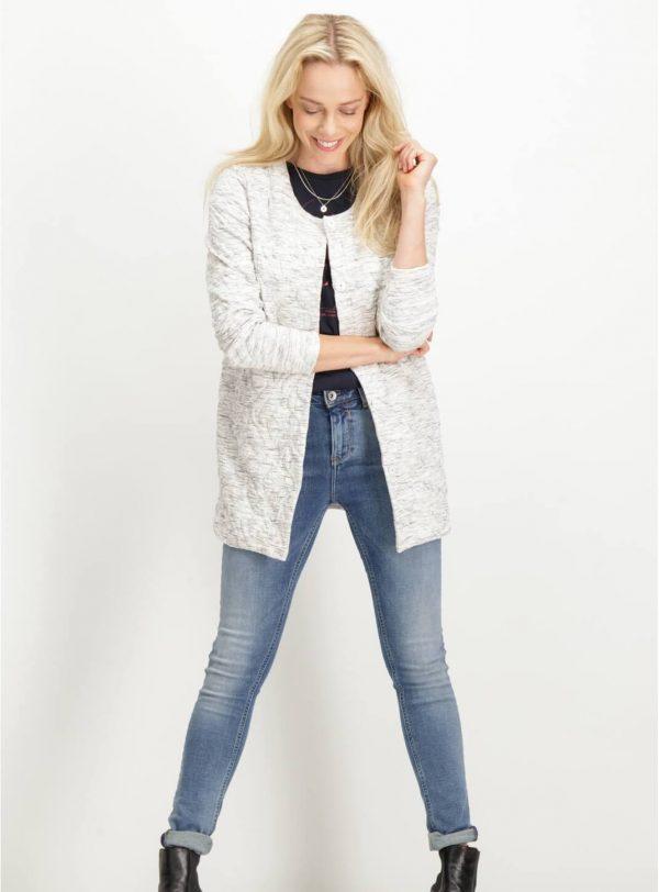 Casaco branco sem gola da Garcia Jeans para mulher