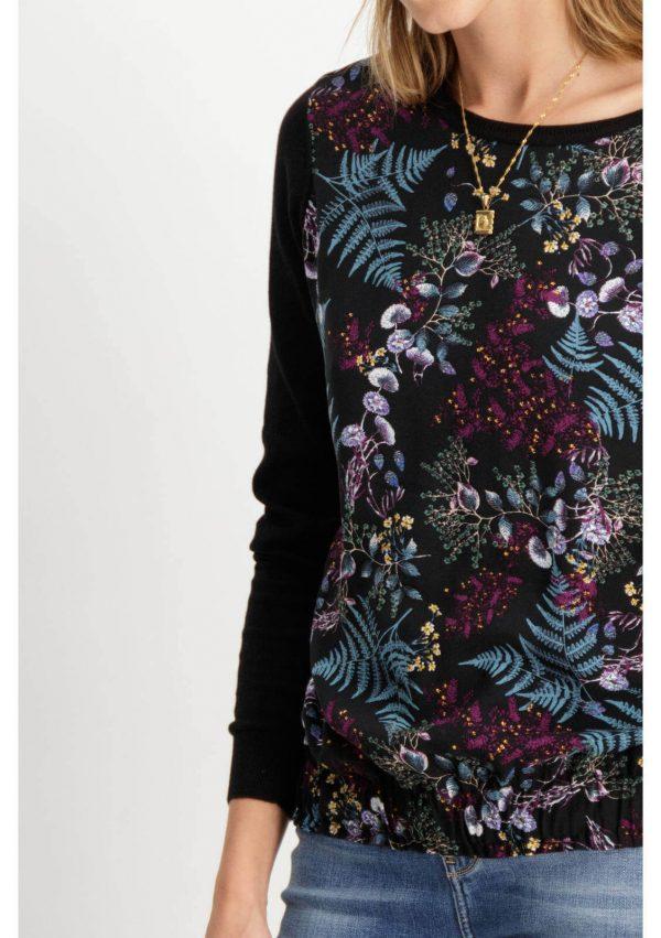Camisola com print floral na frente para mulher da Garcia Jeans