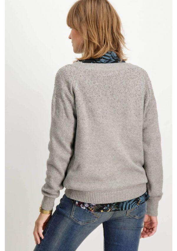 Camisola cinza com aplicações da Garcia Jeans para mulher