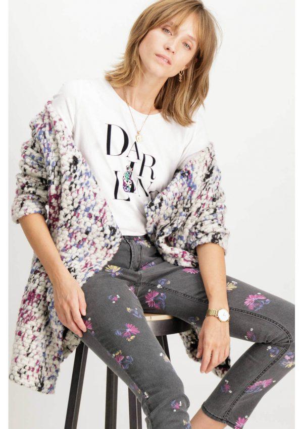 Casaco aberto multicor da Garcia Jeans para mulher