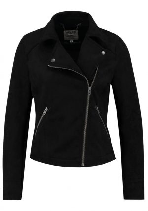 Blusão traçado preto da Garcia Jeans para mulher