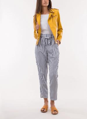 Blusão ecopel traçado amarelo para mulher da Tiffosi