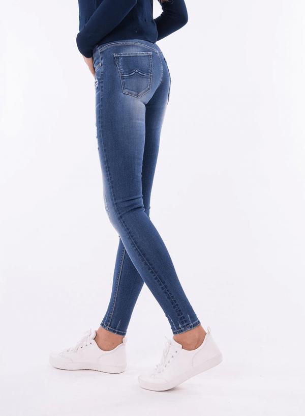 Lateral das calças ganga nicky medium para mulher da Tiffosi