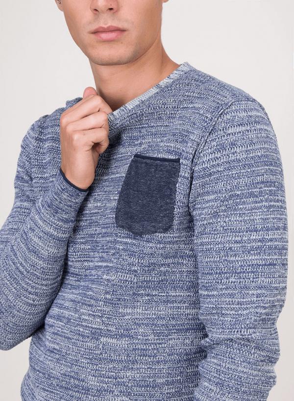 Camisola mesclada com bolso para homem da Tiffosi