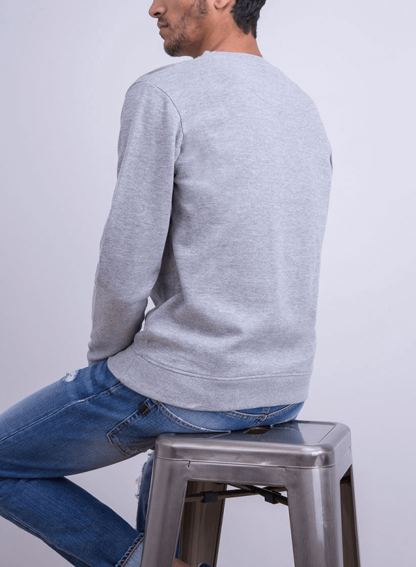 Sweatshirt cinza com texto para homem da Tiffosi