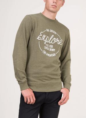 Sweatshirt verde com texto para homem da Tiffosi