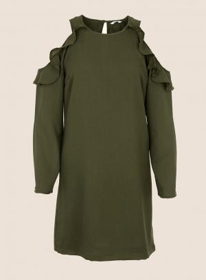 Vestido ombro descoberto em verde da Tiffosi