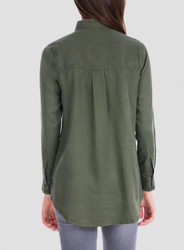 Costas da camisa bolsos com aplicações para mulher da Tiffosi