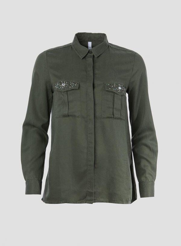 Camisa bolsos com aplicações para mulher da Tiffosi