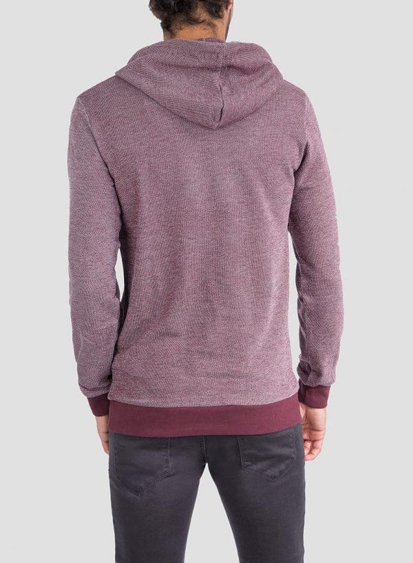 Costas de hoodie pormenor cordões em bordô para homem da Tiffosi