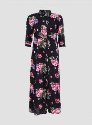 Vestido comprido estampado floral da Tiffosi