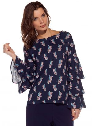 Camisola de malha com print unicórnios da Rosalita McGee