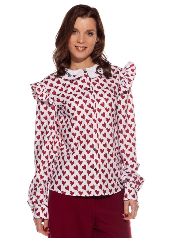 Blusa com print corações para mulher da Rosalita McGee