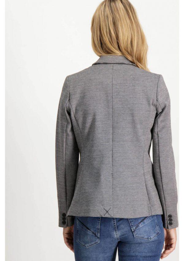 Costas do casaco de xadrez com botão para mulher da Garcia Jeans