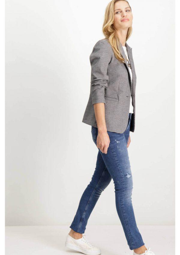 Lateral de casaco de xadrez com botão para mulher da Garcia Jeans