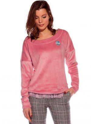 Camisola de malha de pelo rosa da Rosalita McGee