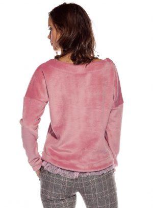 Costas da camisola de malha de pelo rosa da Rosalita McGee