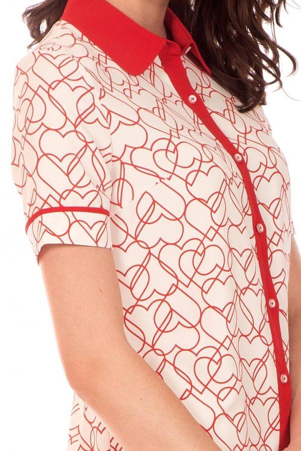 Vestido com print corações da Minueto