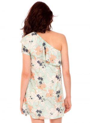 Vestido assimétrico com print floral da Minueto