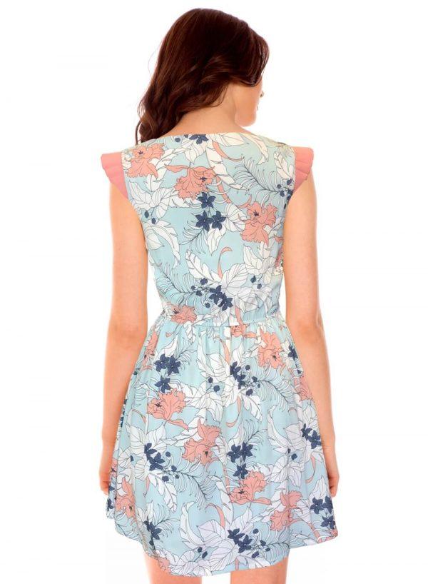 Vestido de cavas com print floral da Minueto